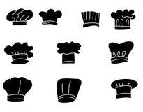 手拉的帽子厨师孤立传染媒介集合 图库摄影