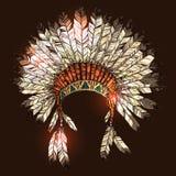 手拉的当地美洲印第安人头饰 图库摄影