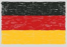 手拉的德国旗子 库存例证