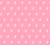手拉的心脏样式传染媒介 向量例证