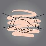 手拉的手传染媒介例证标志象 免版税图库摄影