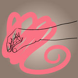 手拉的手传染媒介例证标志象 库存图片