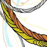 手拉的扭转的绳索设计 库存例证