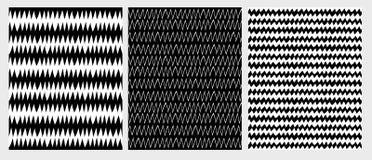 手拉的抽象之字形传染媒介样式 黑白图表 库存例证
