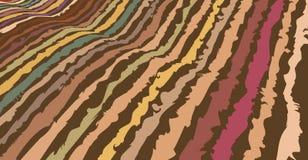 手拉的抽象条纹被映射在波浪,七高八低的表面上代表绵延山在秋天颜色的感受样式 皇族释放例证