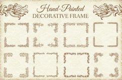 手拉的抽象背景装饰品框架 免版税库存照片