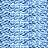 手拉的抽象水彩无缝的样式 库存例证