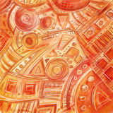 手拉的数字式徒手画的抽象几何样式,概略, 库存照片