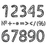 手拉的数字 免版税库存图片