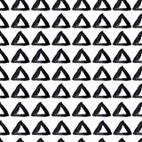 手拉的无缝的三角背景 库存例证