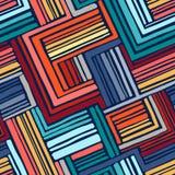 手拉的无缝的几何样式 库存图片