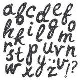 手拉的时髦书法字体 图库摄影