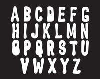 手拉的时髦字体 免版税库存照片