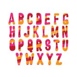 手拉的时髦字体 免版税库存图片