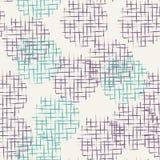 手拉的杂文栅格织地不很细圈子无缝的样式 免版税库存图片