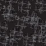 手拉的杂文栅格织地不很细圈子无缝的样式 免版税图库摄影