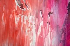 手拉的树胶水彩画颜料绘画 抽象派背景 颜色纹理 免版税库存照片