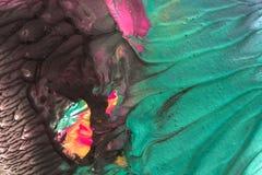 手拉的树胶水彩画颜料绘画 抽象派背景 颜色纹理 库存照片