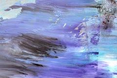 手拉的树胶水彩画颜料绘画 抽象派背景 颜色纹理 库存图片