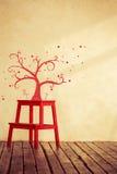 手拉的树 免版税库存图片