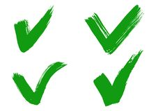 手拉的校验标志或壁虱标志 免版税库存图片
