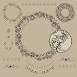 手拉的框架和月桂树 7 皇族释放例证