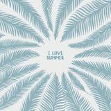 手拉的棕榈叶 向量例证