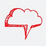 手拉的泡影讲话例证标志设计 免版税库存照片