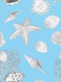 手拉的海洋样式 库存图片