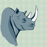 手拉的犀牛 库存照片
