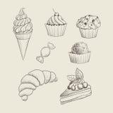 手拉的甜点 免版税图库摄影