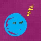 手拉的生物睡觉传染媒介例证 免版税图库摄影