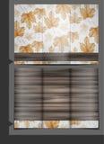 手拉的秋天背景。 免版税库存图片