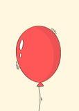 手拉的红色气球贺卡 皇族释放例证