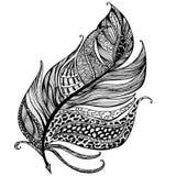 手拉的羽毛线艺术与装饰品的 皇族释放例证