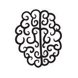手拉的脑子集合象例证 免版税库存照片