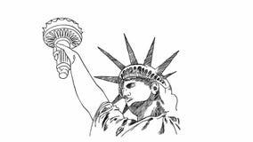 手拉的自由女神像 库存例证