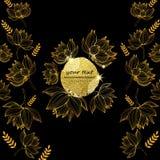 手拉的花传染媒介 异常的美丽的花图表 免版税库存照片
