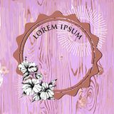 手拉的花传染媒介 异常的美丽的花图表 免版税库存图片