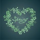 手拉的花卉春天框架 库存照片