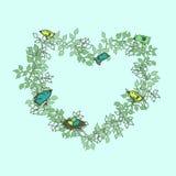 手拉的花卉春天框架 免版税库存照片