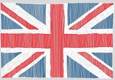 手拉的英国旗子 皇族释放例证