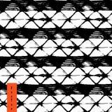 手拉的菱形和条纹 免版税库存图片