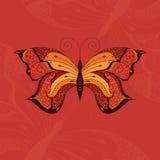手拉的蝴蝶。 免版税库存照片