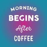 手拉的行情:早晨在传染媒介的咖啡以后开始在明亮的背景 库存照片