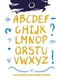 手拉的设计字母表 免版税库存照片