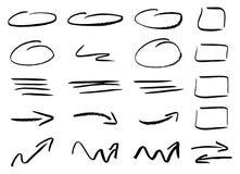 手拉的设计infographic元素 库存图片