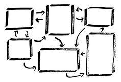 手拉的设计infographic元素 图库摄影