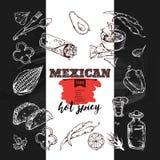 手拉的象墨西哥人食物 免版税库存图片