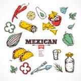 手拉的象墨西哥人食物 免版税图库摄影